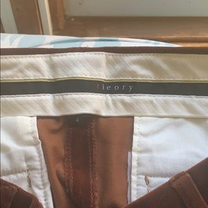 Theory Brown Velvet Pants